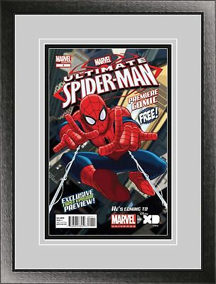 Current Comic Book Black Wood Glass Wall Showcase Frame Holder Display Matte UV