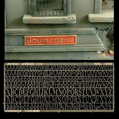 Royal Model 492 - Letters (Large) - Photoetched 1/35