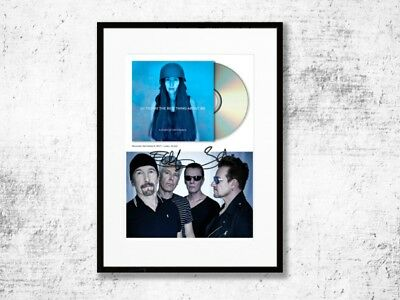 U2 - CD Cover - you're the best thing about me - Autogramm Bono The Edge Rock