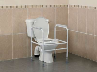Patterson Medical Toilet Surround with Height Adjustable Floor Fixing