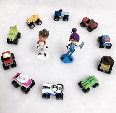 12pcs Blaze And The Monster Machines Figures Toy Cake Toppers New UK Gifts Doll