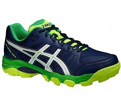 Mens asics Gel Lethal MP6 Navy Synthetic Hockey Shoes Trainers Size UK 14 MP 6