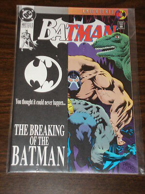 Batman #497 Nm (9.4) Dc Comics Dark Knight Bane Breaking Of The Bat August 1993