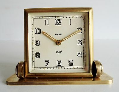 STUNNING OLD 1930's ART DECO SMITHS 8-DAY MANTEL CLOCK - SPARES OR REPAIRS