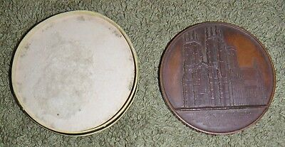 Antique Jacques Wiener Large 1854 Bronze Medal Cathedral Zu York Chuch Abbey