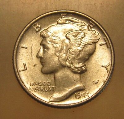 1941 Mercury Dime - BU Condition - 49SU