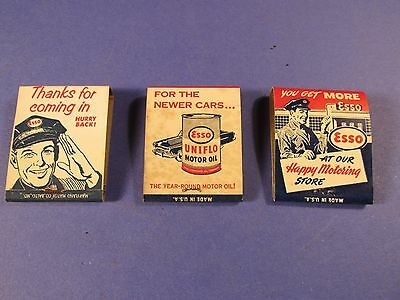 Vintage Esso Match Packs From Putnam Oil Co. From Towanda, Pa