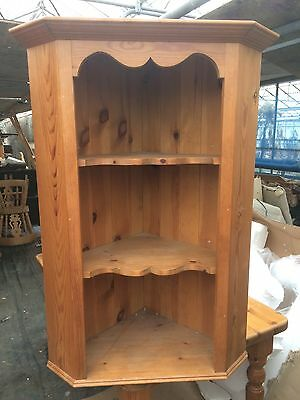 Quality Rustic Antique Pine Corner Shelf Unit Wall Mounted 3 Tiers Country Style