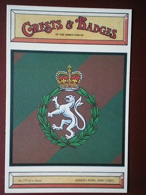 Postcard 177 Women's Royal Army Corps Crests & Badges Of The Armed Forces