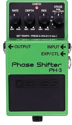 Boss PH-3 Phase Shifter Pedal - 7 modes, unidirectional phasing, tap tempo