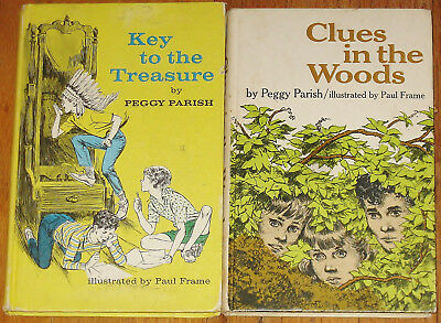 Key to the Treasure ~ Clues in the Woods ~ Peggy Parish vintage lot