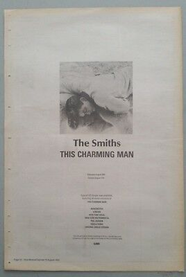 "THE SMITHS THIS CHARMING MAN ORIGINAL 1992 Magazine Advert Size 12"" X 17"" app"