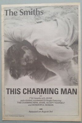 "THE SMITHS THIS CHARMING MAN #2 ORIGINAL 1992 Magazine Advert Size 12"" X 17"" app"