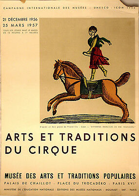 Original-Plakat, Affiche Arts et Traditions du Cirque 1956-57