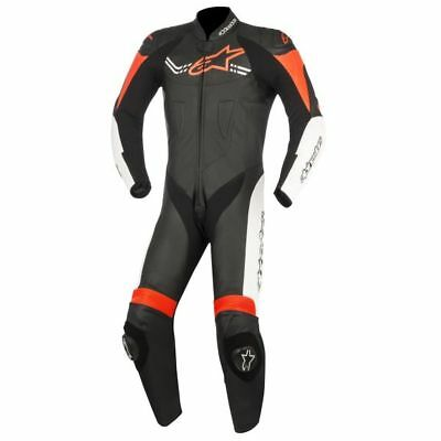 Alpinestars Challenger V2 one piece leather suit black-white-red