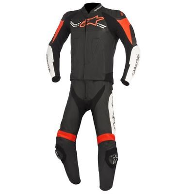 Alpinestars Challenger V2 two piece leather suit black-white-red