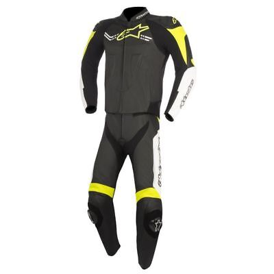 Alpinestars Challenger V2 two piece leather suit black-white-yellow