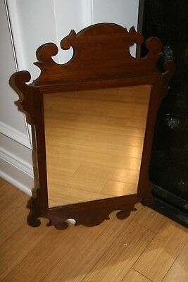 Antique Chippendale Mahogany Mirror Colonial American Federal