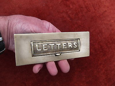 Antique Brass Letterbox Flap/letter Receiver Plate/brass Letters/brass Post Box