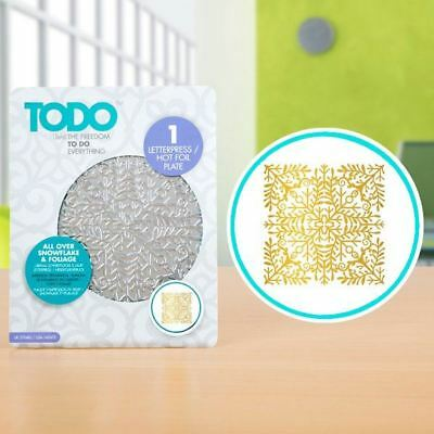 TODO Paper Card Craft Letterpress and Hot Foil Plate - Snowflake and Foliage