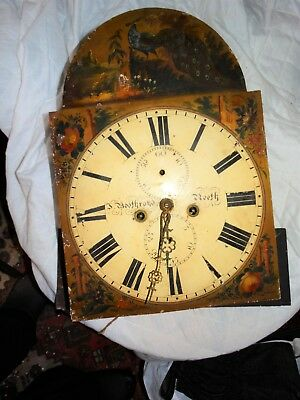 Antique Long Cased Clock Face & Movement,pendulum,painted Face,j,bothroyd,reath.