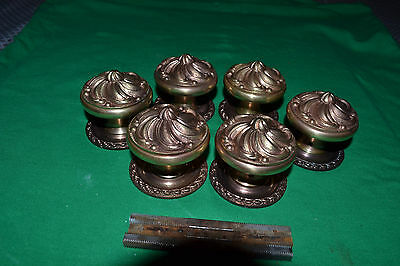 """3"" Sets Of Brass Door Knobs,  Rosettes, Beautiful Sets, Made In Spain"