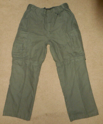 BOY SCOUTS of America CONVERTIBLE Uniform Cargo Pants ZIP OFF Shorts Mens Sz 34