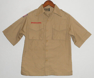 BOY SCOUTS Of America UNIFORM Shirt KHAKI Scout YOUTH Boys MEDIUM Md