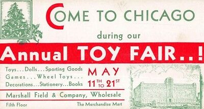 Marshall Fields Annual Toy Show Chicago Vintage Card
