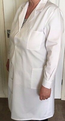"""2 x Ladies Lab Coats, Medical, Uni. Pharmacy, Catering, Size 36"""" Free Delivery."""
