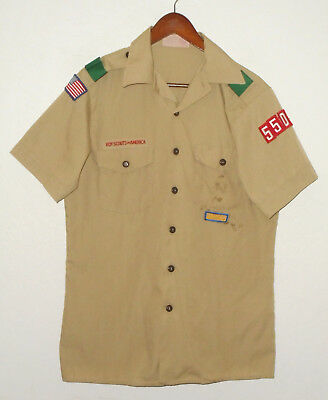 BOY SCOUTS Of America UNIFORM Shirt #550 Khaki Scout USA Adult Mens : MD