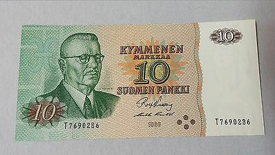 Finland 10 Markkaa Bank Note 1980 UNC European World Currency CU