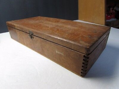 Cool Vintage Sensible Safety Pins Advertising Box Wooden With Dovetail Corners