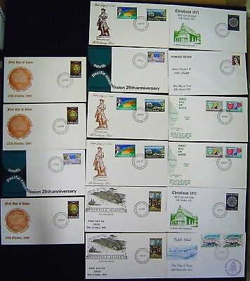 Norfolk Island Small Accumulation of 25 First Day Covers
