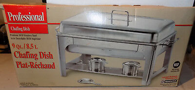 Tramontina Professional 9Qt Catering Chafing Warming Dish Stainless Brazil Nice*