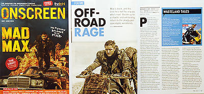 Cinema Magazine Mad Max Fury Road Etc Tom Hardy