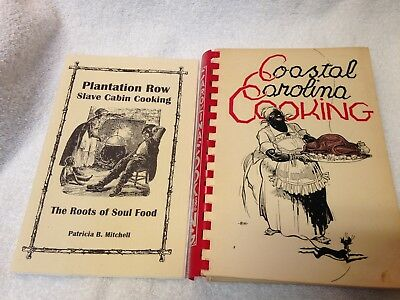 Lot Of 2 Vintage Cookbooks-Coastal Carolina Cooking-Plantation Row Slave Cabin