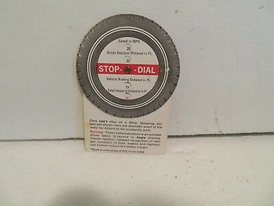 AETNA  STOP DIAL  Stopping Distance Slide Calculator