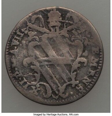 Papal States 1737 Silver 1 Grosso Coin KM#871