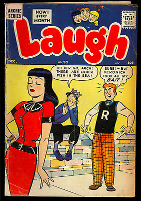 Laugh Comics #93 Nice Good Girl Cover Archie Betty & Veronica Comic 1958 VG-