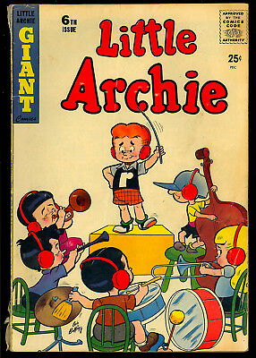 Little Archie #6 Nice Silver Age Betty & Veronica Giant Comic 1958 VG-