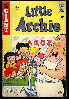 Little Archie #11 Nice Silver Age Betty & Veronica Giant Comic 1959 VG-