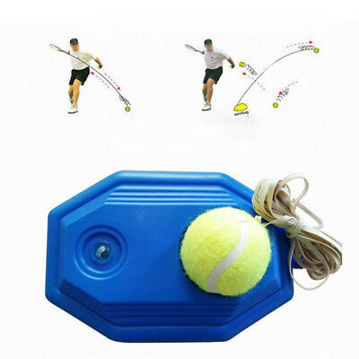 Tennis Ball Back Base Trainer Set+Rubber Band For Single Training Practice