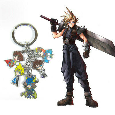 Anime Final Fantasy XV FF15 Cloud Strife Metal Pendant Keychain Keyrings
