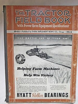 Vintage 1944 WWII The Tractor Field Book Catalog Farm Equipment John Deere Case