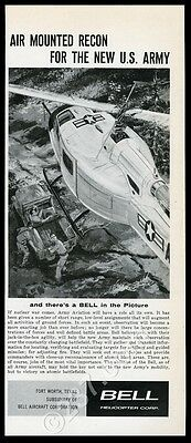 1960 Bell Helicopter US Army XH-40 or UH-1 Huey vintage print ad
