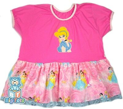 "*BIG TOTS* adult DISNEY PRINCESS baby girl dress 44+"" chest"