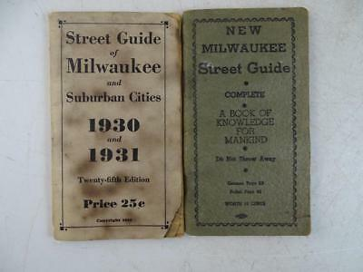 Antique Street Guide of Milwaukee WI 1931 Associated Doctors Advertising Book x2