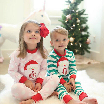 Christmas Kid Baby Girl Boy Matching Xmas Pajamas Set Sleepwear Nightwear Pj's A