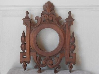 Antique french Black Forest WOOD CARVED wall Plaque Pediment
